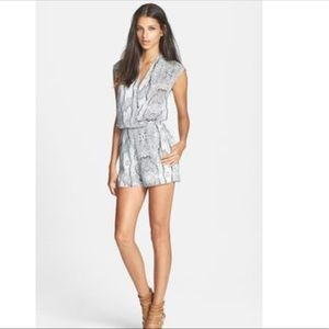 Lucy Paris Romper - Snake Print with Mesh Back